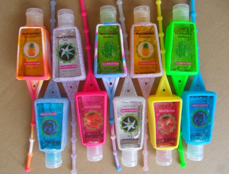NEW ! Portable Silicone Holder For Hand Sanitizer Or